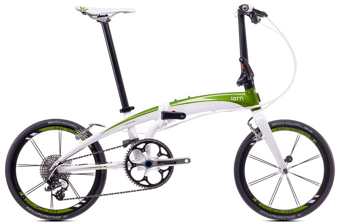 Tern Verge X10 - super light folding bike