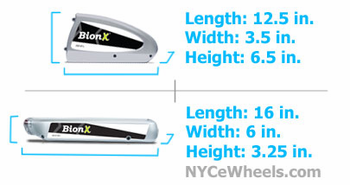 BionX battery size