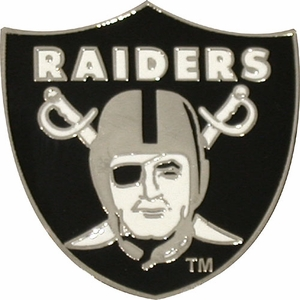 Raiders Shield Lapel Pin - Click to enlarge