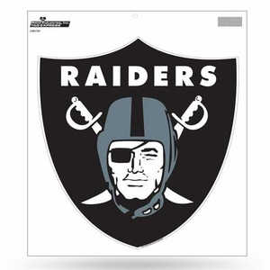 Raiders 12 Inch Shield Logo Vinyl Decal - Click to enlarge