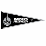 Raiders 12 x 30 Rusher Pennant