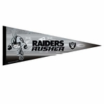 Raiders 12 x 30 Rusher Premium Pennant