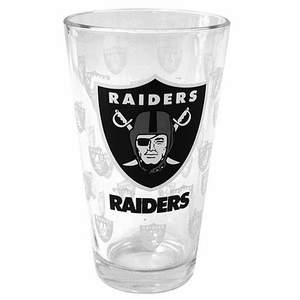 Raiders 16 ounce Satin Pint Glass - Click to enlarge