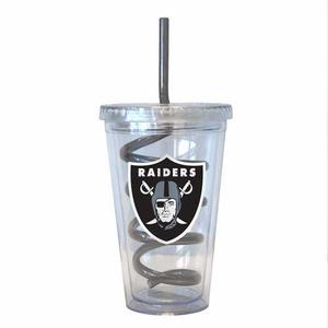 Raiders 16oz Swirl Straw Tumbler - Click to enlarge