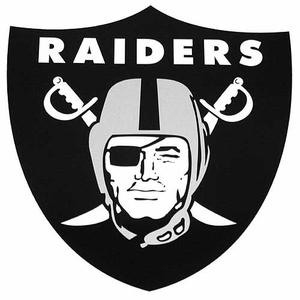 Raiders 18 Inch Shield Magnet - Click to enlarge