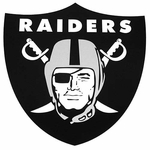 Raiders 18 Inch Shield Magnet