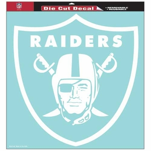 Raiders 18 x 18 Inch Die Cut Logo Decal - Click to enlarge