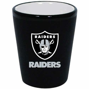 Raiders 2oz Two Tone Ceramic Shot - Click to enlarge