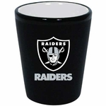 Raiders 2oz Two Tone Ceramic Shot