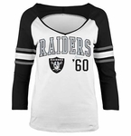 Raiders 3/4 Sleeve Raglan