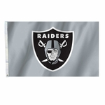 Raiders 3 x 5 Silver Shield Flag