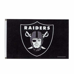 Raiders 3x5 Logo Flag - Click to enlarge