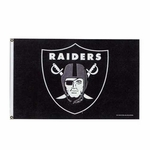 Raiders 3x5 Logo Flag