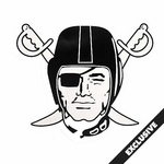 Raiders Four Inch Pirate Logo Decal