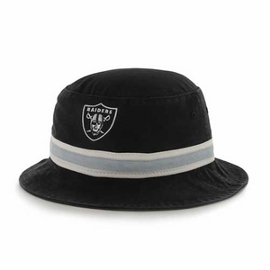 Raiders '47 Brand Black Bucket Hat - Click to enlarge