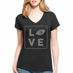 Raiders '47 Brand Women's Club V-Neck Tee