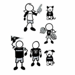 Raiders 5 X 7 Family Decal Set