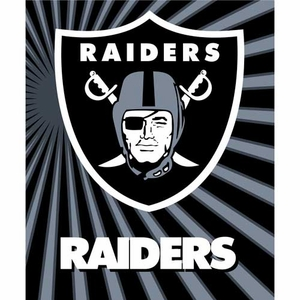 Raiders 50 x 60 Strobe Sherpa Throw - Click to enlarge