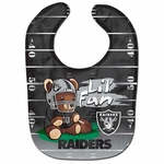 Raiders All Pro Bear Baby Bib