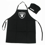 Raiders Apron and Chefs Hat Set