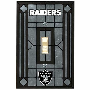 Raiders Art Glass Switch Plate Cover - Click to enlarge