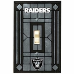 Raiders Art Glass Switch Plate Cover