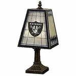 Raiders Art Glass Table Lamp