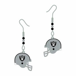 Raiders Beaded Helmet J-Hook Earrings
