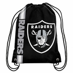 Raiders Big Logo Drawstring Backpack