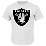 Raiders Big Shield Logo White Tee