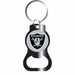 Raiders Black Bottle Opener Keychain