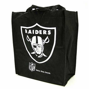 Raiders Black Reusable Bag - Click to enlarge