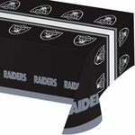 Raiders Black Tablecloth