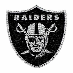 Raiders Bling Auto Emblem - Click to enlarge