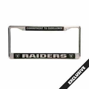 Raiders Chrome Commitment to Excellence License Frame - Click to enlarge