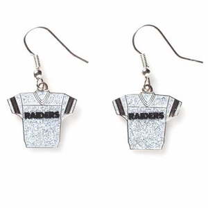 Raiders Crystal Jersey Earrings - Click to enlarge