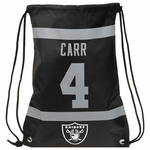 Raiders Derek Carr Player Drawstring Backpack