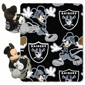 Raiders Disney Hugger with 40x50 Fleece Blanket - Click to enlarge
