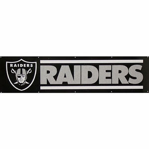Raiders Eight Foot Banner - Click to enlarge