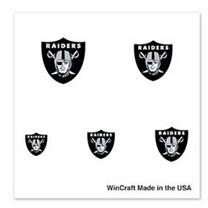 Raiders Finger Nail Tattoos - Click to enlarge