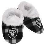 Raiders Flannel Baby Bootie