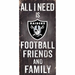 Raiders Friends and Family Wooden Sign
