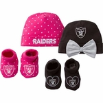 Raiders Girl's Cap and Bootie Set