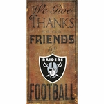 Raiders Give Thanks Wooden Sign