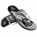 Raiders Grey Logo Flip Flop