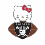 Raiders Hello Kitty Football Lapel Pin