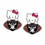 Raiders Hello Kitty Post Football Earrings