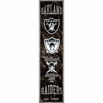Raiders Heritage Banner Wooden Sign