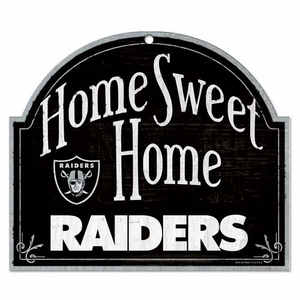Raiders Home Sweet Home Sign - Click to enlarge