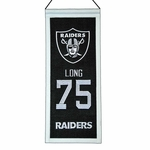 Raiders Howie Long Mini Legacy Banner